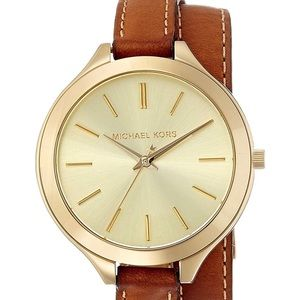 Micheal Kors Gold wrap leather watch